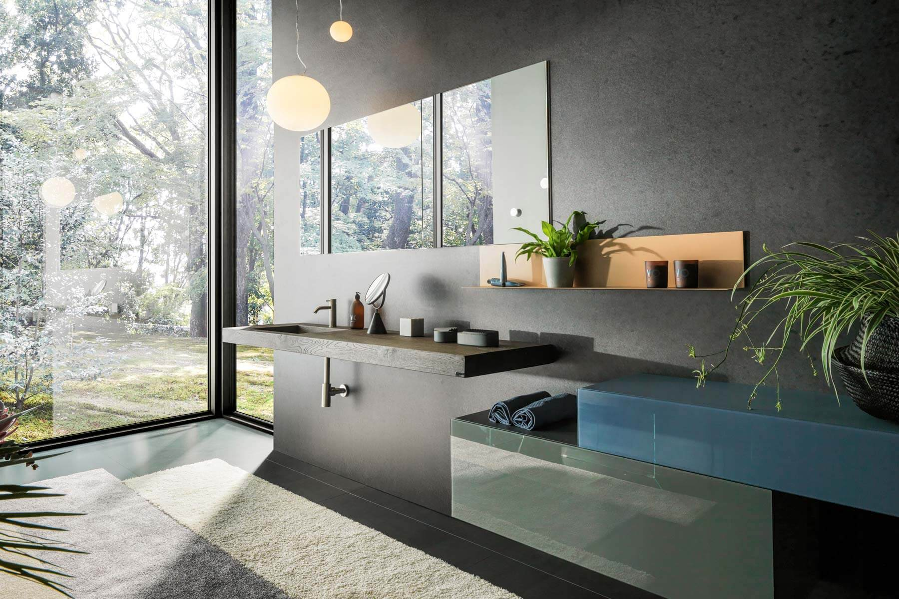mobili per bagno linee moderne