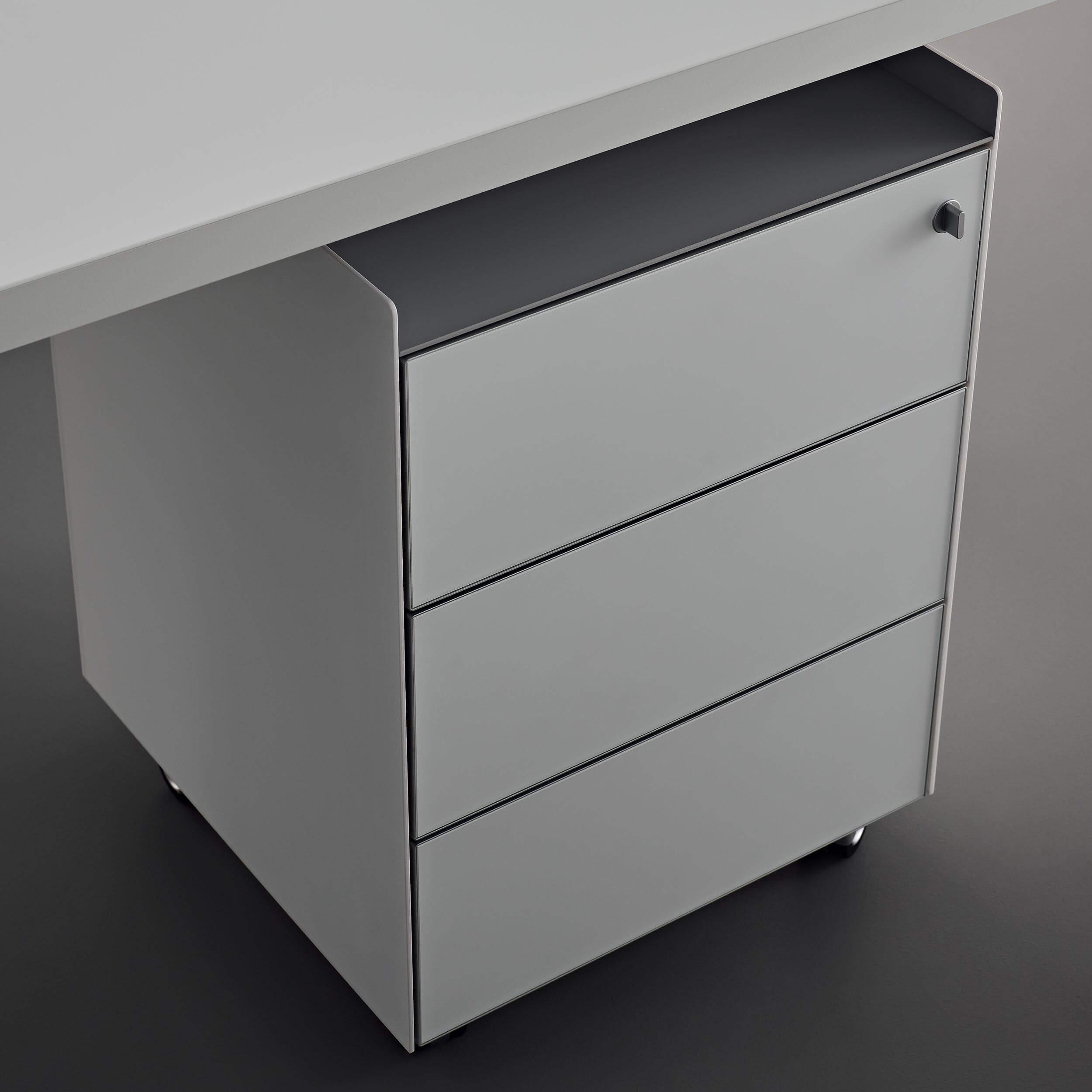 cassettiera tavolo flat
