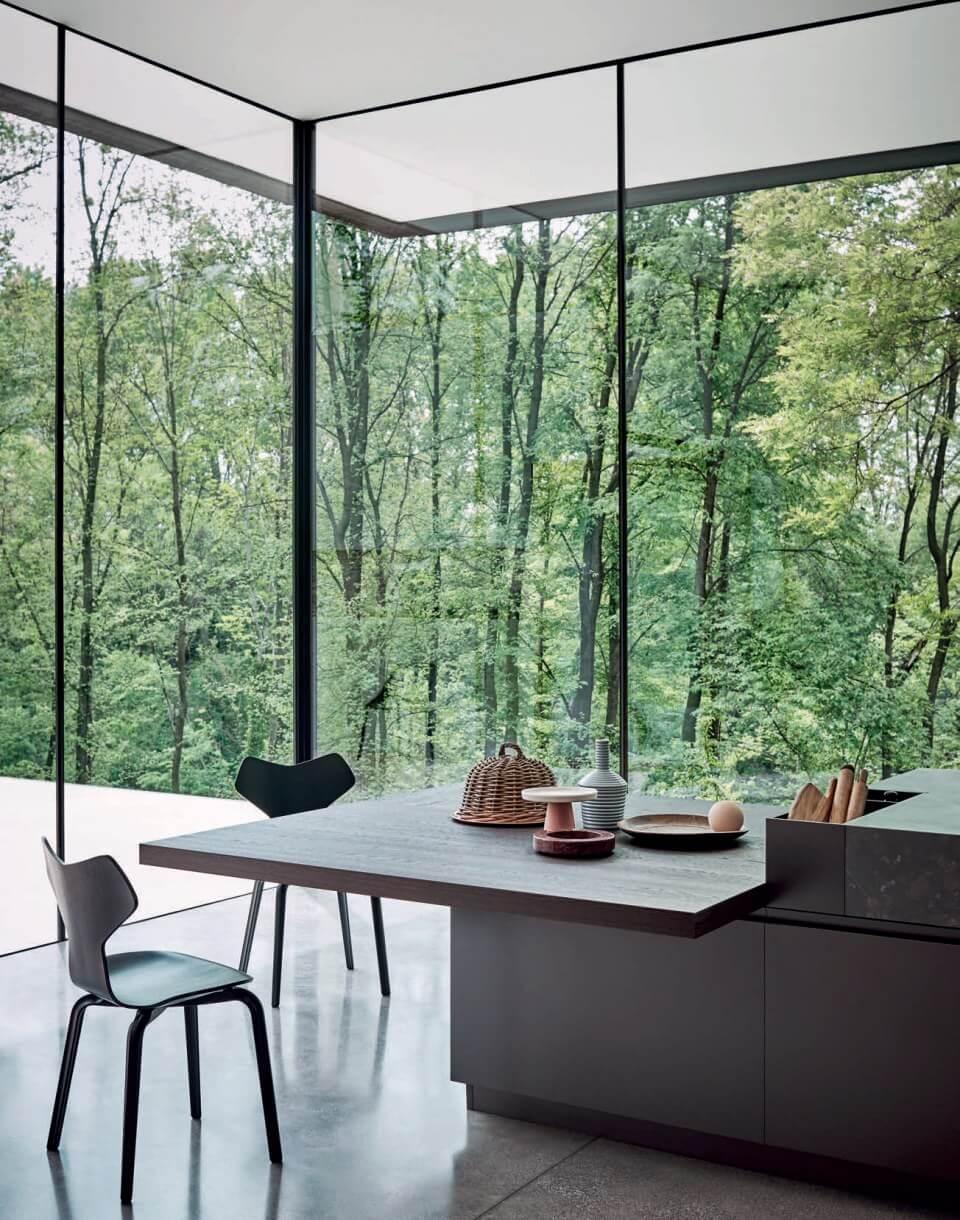 cucina moderna tavolo dettaglio