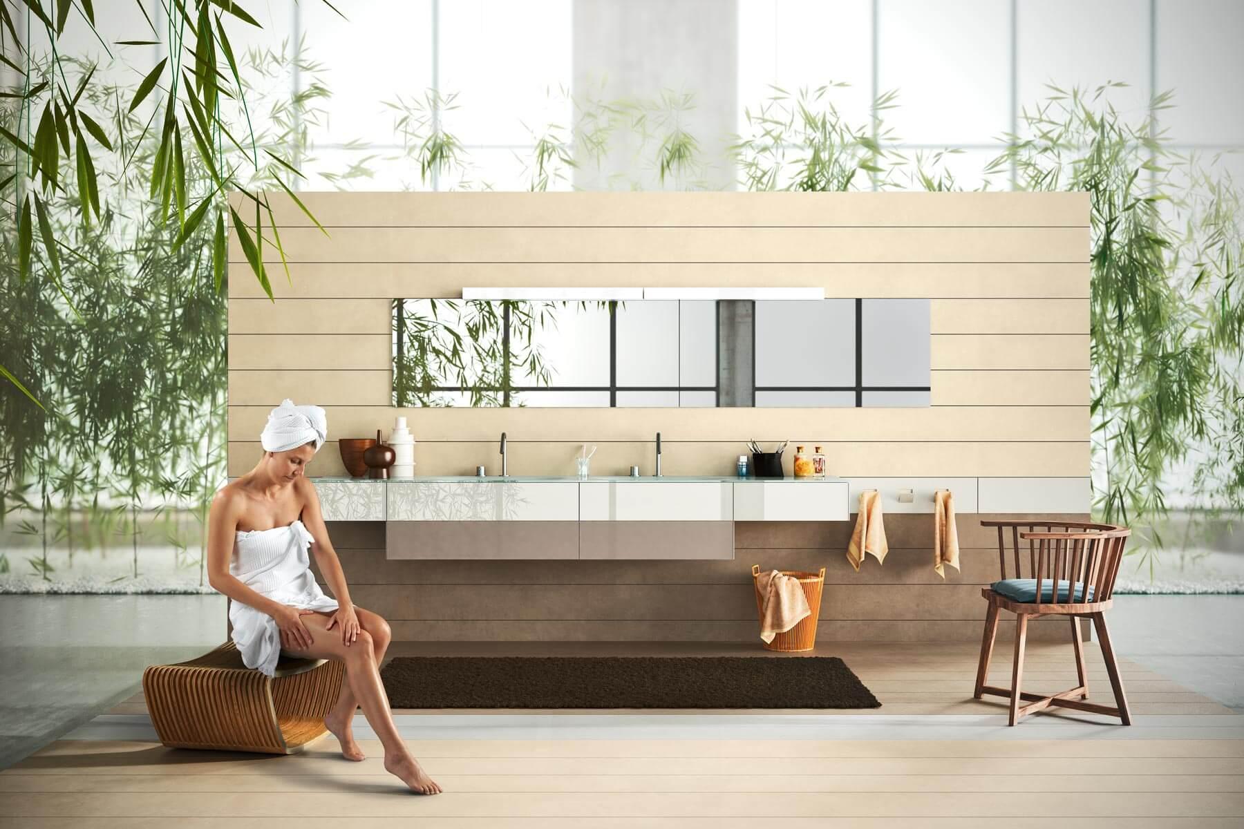 mobile bagno e specchio