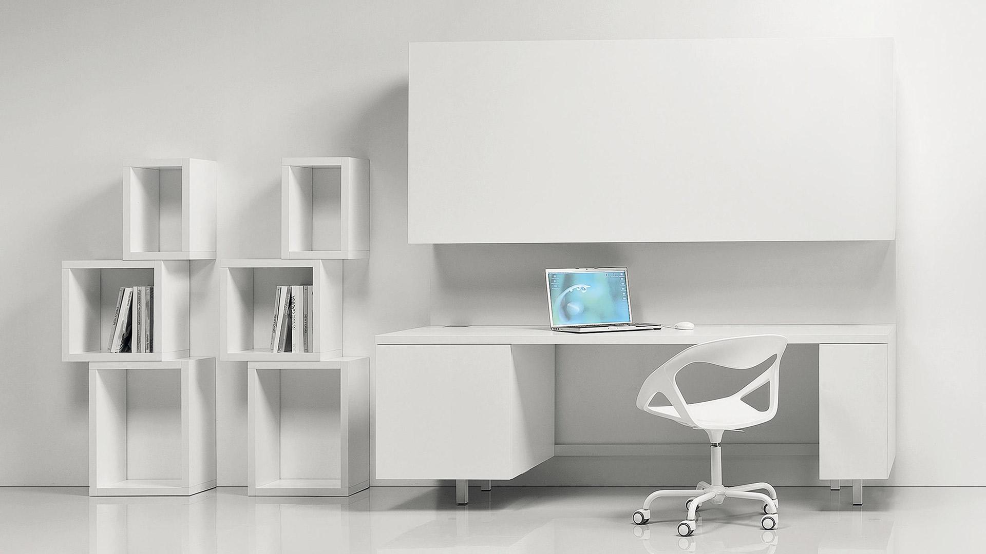 scrivania sedia moderne bianco