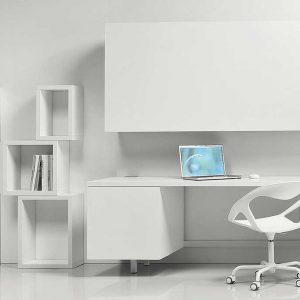 composizione moderna scrivania sedia mensola