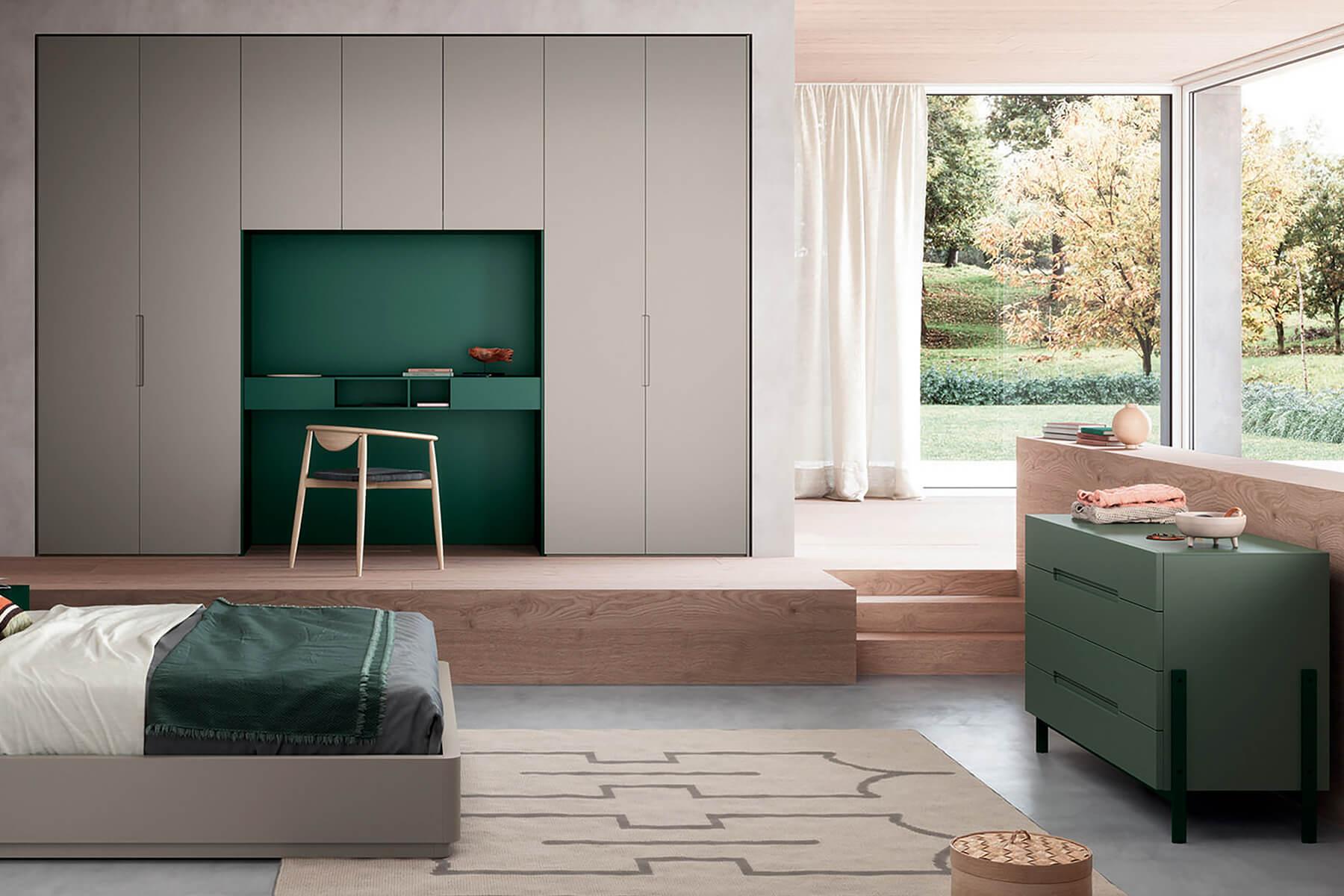 armadio camera letto con scrivania