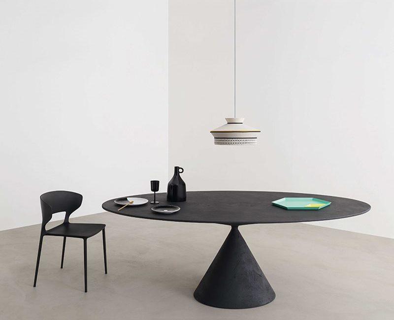 tavolo clay con sedia