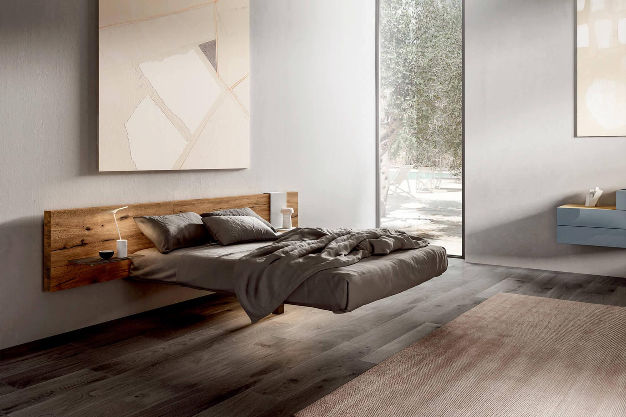 camera letto con fluttua