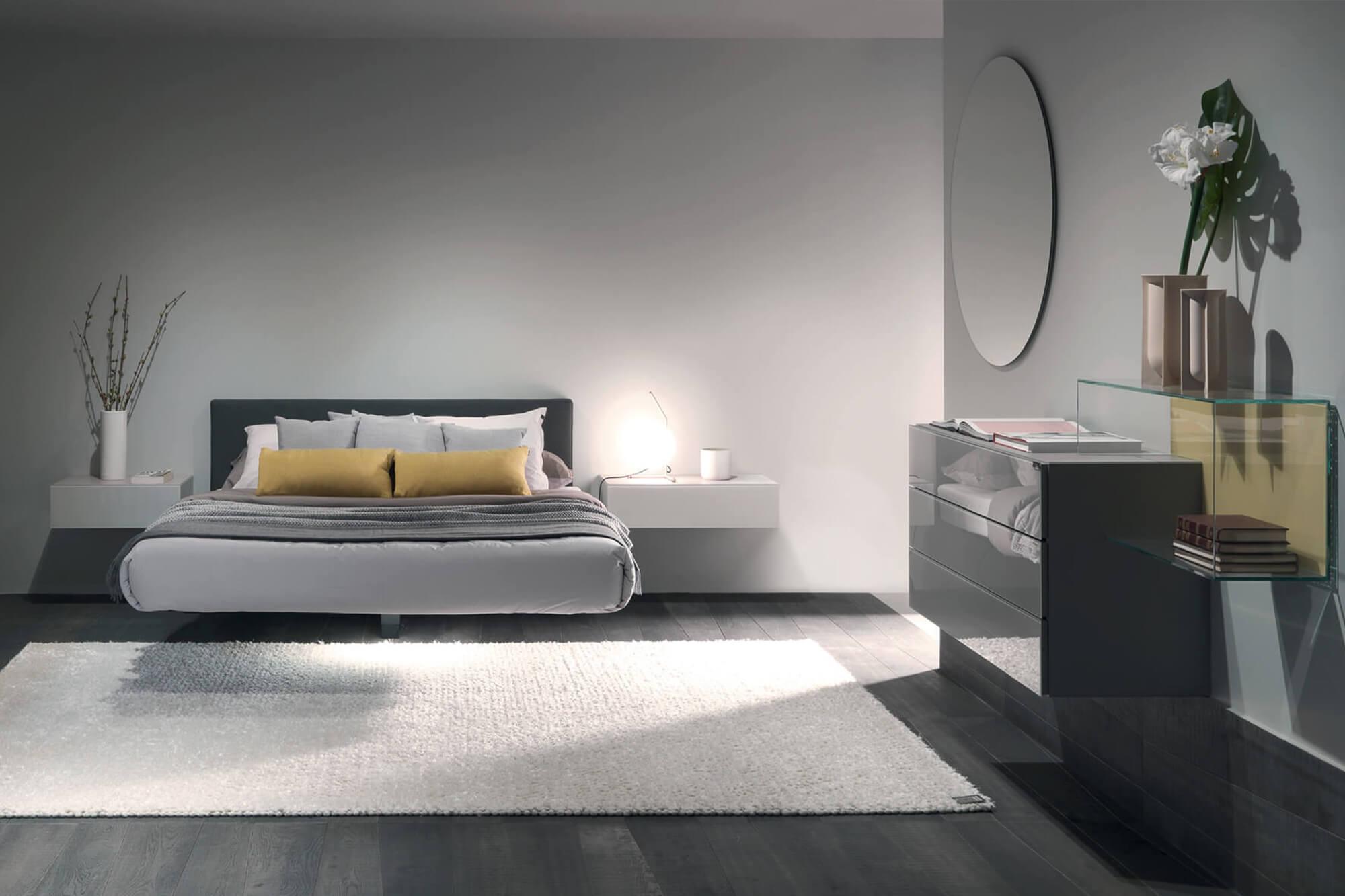 arredamento camera letto fluttua