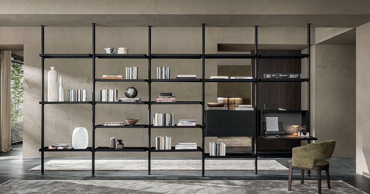 Libreria soggiorno moderna